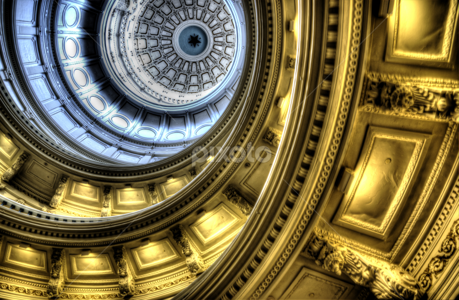 Inside the Texas Dome by Marc Mulkey - Buildings & Architecture Architectural Detail ( building, texas, state, dome, view, capitol )