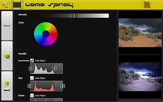 Screenshot of Lomo Spray