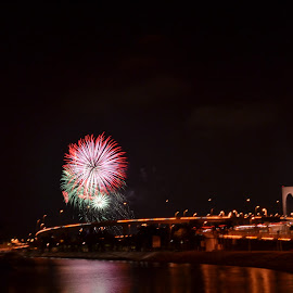 Fireworks Display  by Lin Shall - City,  Street & Park  Night ( kaythi, xiao, ling, linlin, shall )