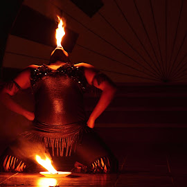 Fire Lady by Marcel Cintalan - People Musicians & Entertainers ( spectacular, varadero, entertainment, fire, cuba,  )