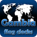 Gambia flag clocks icon