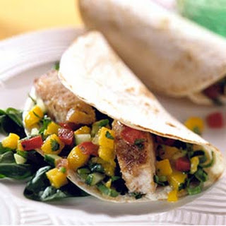 Fish Tacos with Tropical Fruit Salsa