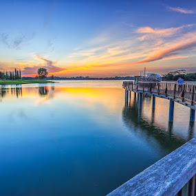 The Phoenix spreads its wings. by CK Lam - City,  Street & Park  City Parks ( lower seletar reservoir, reservoir, park, sunrise, singapore )