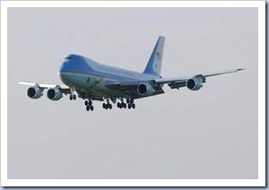 Air Force One Landing @ GSP (Gwinn Davis - Gville News)