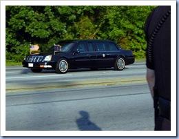 President Bush Limo (Gwinn Davis - Gville News)
