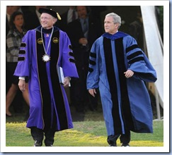 President Bush & David Shi @ Furman (Bart Boatwright - Gville News)