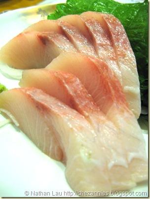 tokkuri tei hamachi sashimi