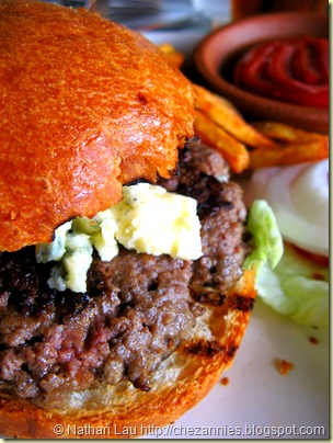Town North Shore Cattle Co grass fed beef burger with gorgonzola 2