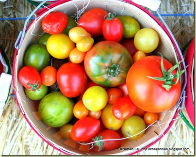 bucket of heirloom tomatoes @ TomatoFest