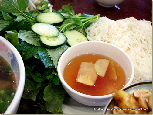 Thien Long: Bun Fish Sauce, Herbs, Cucumber
