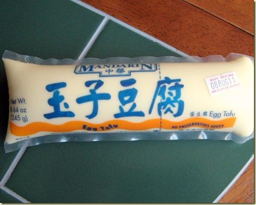 mandarin egg tofu