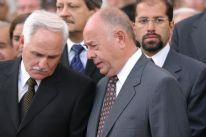 el ex ministro Aguinaga con el ex subsecretario Carlos Rico