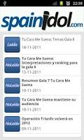 Screenshot of SpainIDOL