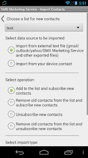 SMS Marketing Service PRO - screenshot