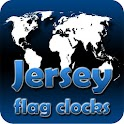Jersey flag clocks icon