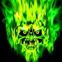 Green Monster skull 480x800 icon