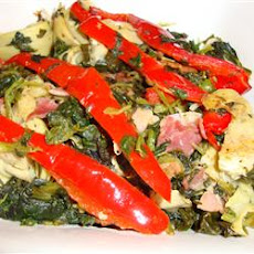 Colorful Spinach and Prosciutto Side