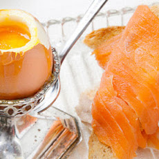 Egg With Smoked Salmon Fingers