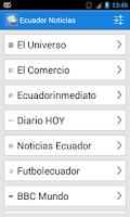 Screenshot of Ecuador Noticias