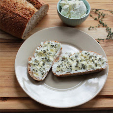 Goat Cheese Tartine with Honey & Thyme