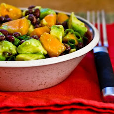 Black Bean Salad with Fuyu Persimmon, Avocado, and Lime-Cumin Vinaigrette
