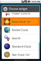 Screenshot of Rock Clock 1x1