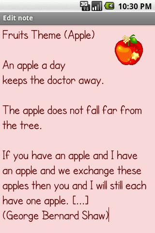 Fruits Theme