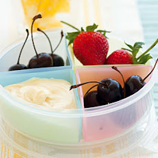 Fresh Fruit with Mascarpone and White Chocolate Dip