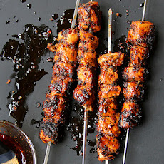 Tavuk Kebabi (Mint & Aleppo Pepper Marinated Chicken Kebabs)