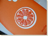 Orange card closeup