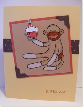 Stamp Club Sock Monkey