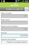 Screenshot of OTP m-banking HR