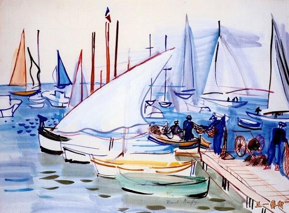 FishingBoatsAtCannes_c1940_NC