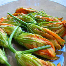 Zucchini Blossoms Stuffed With Ricotta and Basil