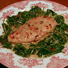 Broiled Chipotle Chicken With Creamy Spinach