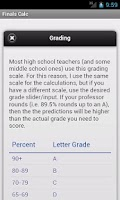 Screenshot of Finals! Grade Calculator