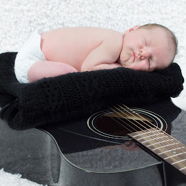 New Muse by Brandie Laughner - Babies & Children Babies ( music, guitar, baby, boy, newborn )