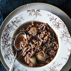 Oxtail Soup with Onions and Barley