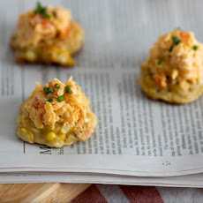 Grilled Corn Fritters With Jarlsberg Pimento Cheese