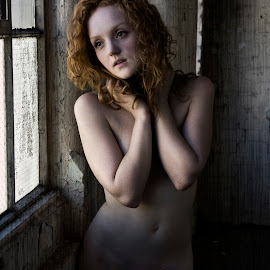 Ivory Flame warehouse by Mark Wood - Nudes & Boudoir Artistic Nude ( nude, window, industrial, redhead, warehouse )