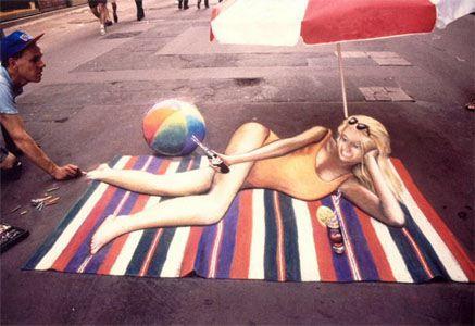 Girl Sun Bath Art