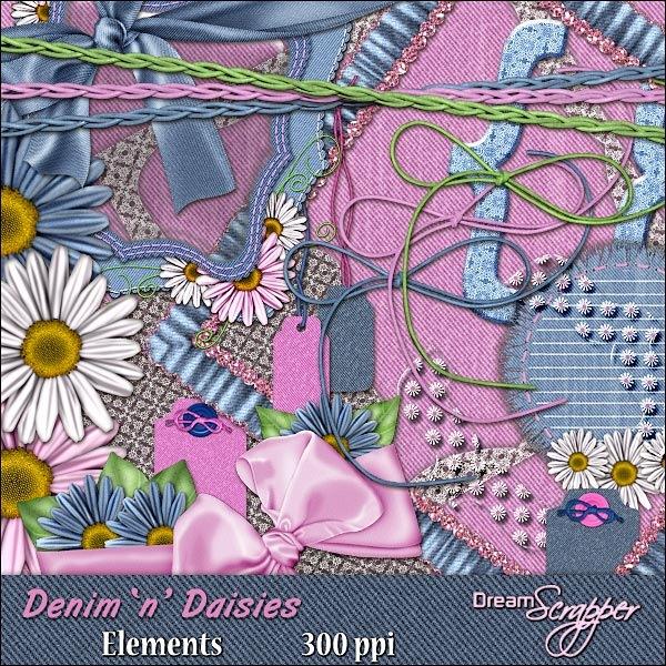 Denim 'n' Daisies Elements