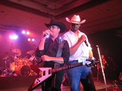 John Rich with Cowboy Troy