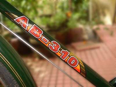 Bicycle frame with beautiful logo