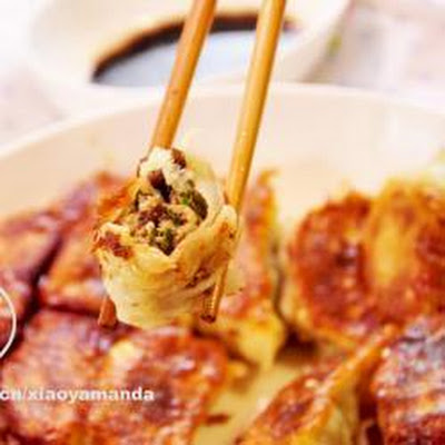 Pork, Prawn And Mushroom Crispy Dumplings