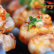 Roasted Red Pepper & Tomato Marinated Tandoori Prawns