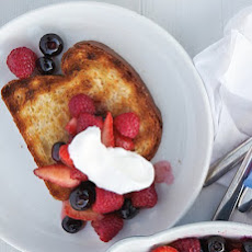 Grilled Brioche with Warm Fruit