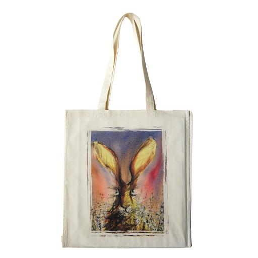 Hare rabbit bag tote cotton shopper for shopping