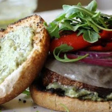 Grilled Portobello and Arugula Burgers