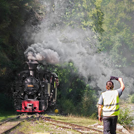 An old fashioned train by Rucsandra Calin - Transportation Trains ( old train )